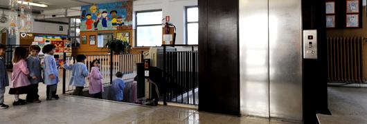 Impianto Elevatore nella Scuola Elementare Statale Ada Negri - 87 Circolo - Roma